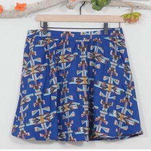 Lush Aztec Print Skirt